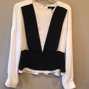 Women's white and black blouse